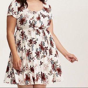 Torrid Floral Pin Tuck Dress